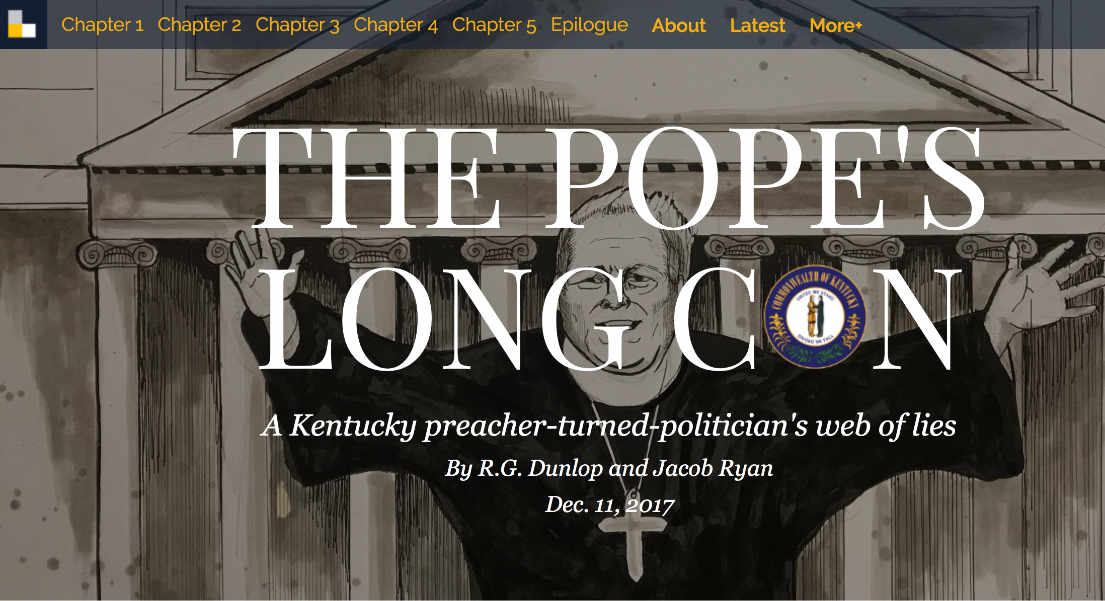 The Pope's Long Con Website